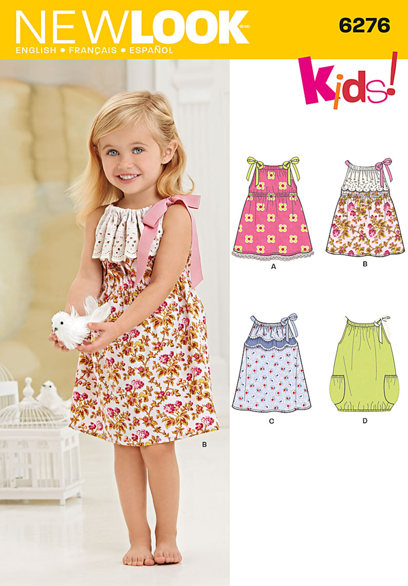 New Look 6276 Toddlers' Dresses sewing pattern