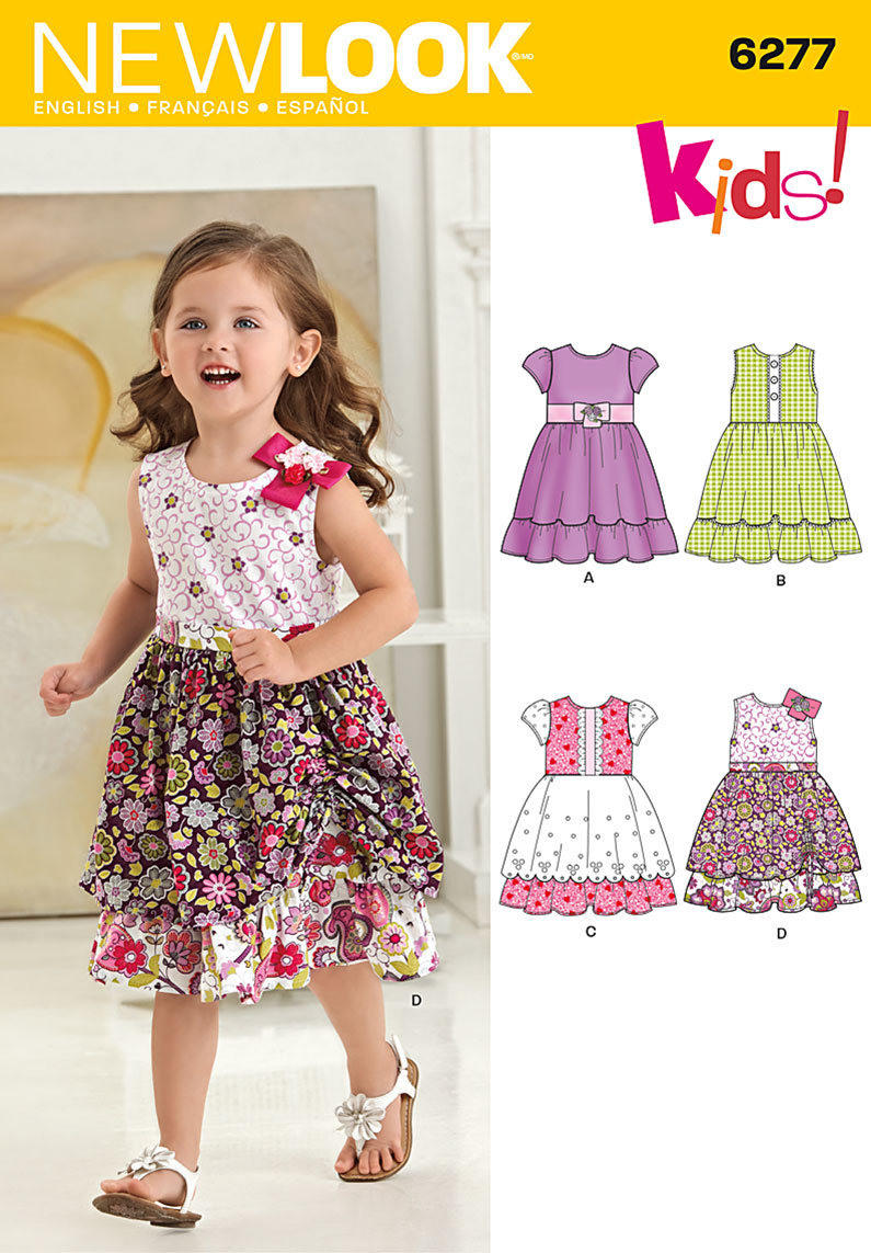 New Look Toddlers' Dress with Fabric Variations 6277