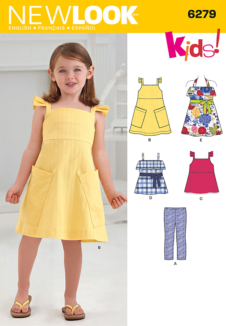 New Look Child's Dresses or Tops and Knit Cropped Leggings 6279