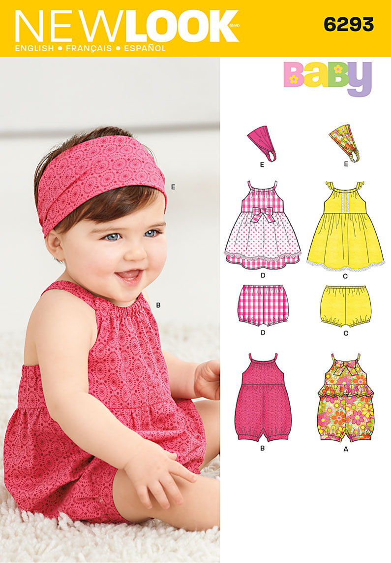 New Look Babies' Romper, Dress, Panties and Headband 6293