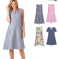 New Look 6340 Pattern ( Size 8-10-12-14-16-18-20 )