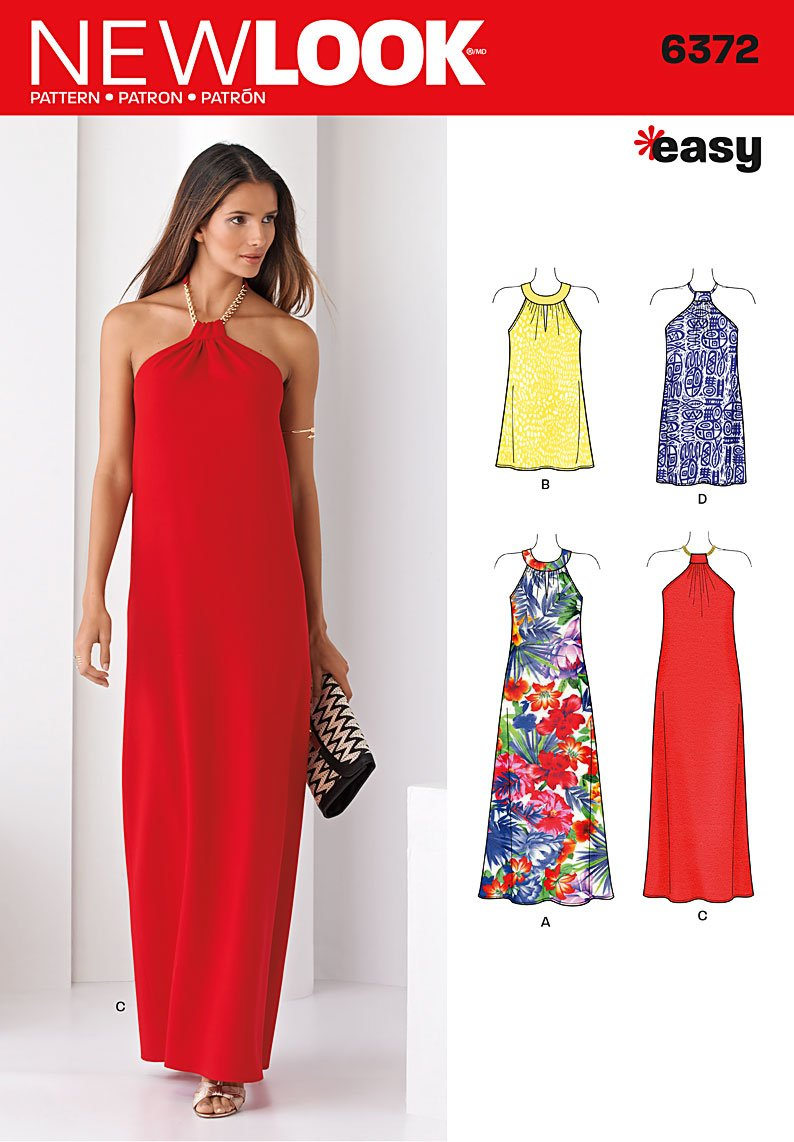 New Look Misses' Dresses Each in Two Lengths 6372