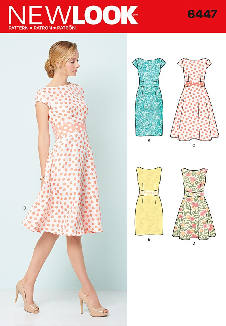 New Look 6447 Misses 39 Dresses
