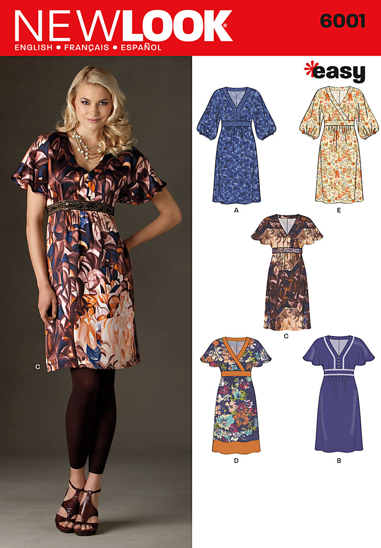 New Look Misses' Dresses 6001