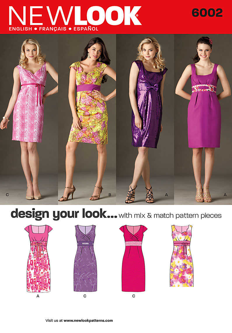New Look Misses' Design Your Look Dresses 6002