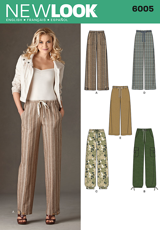 New Look Misses' Pants 6005