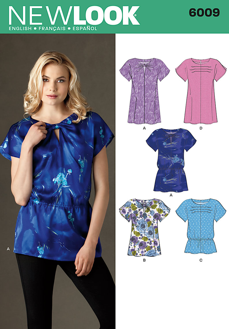 New Look Misses' Tunic or Top 6009