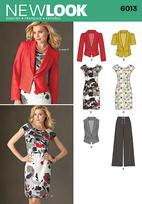 New Look 6013 Pattern( Size 4-6-8-10-12-14-16 )