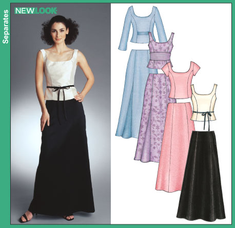 New Look 6273 Misses Evening Tops and Skirts sewing pattern