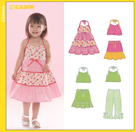Patterns new look toddlers 6502 toddler dress top skirt and pants new