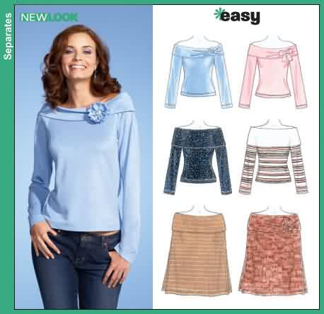 New Look Misses Knit Tops and Poncho 6534
