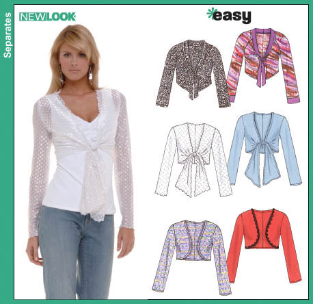 New Look Misses Knit Bolero Jacket 6559
