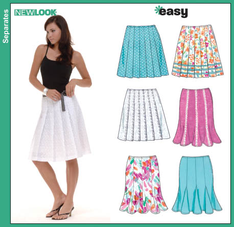 New Look Misses Pleated and Gored Skirts 6566