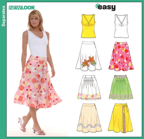 New Look Misses Skirts and Knit Top 6569