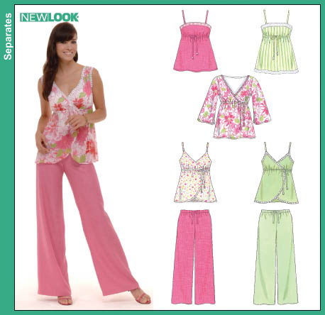 New Look Misses Camisole & Tunic Tops with Easy Drawstring Pants 6572