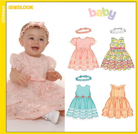 New Look Babies Lined Dresses and Headband 6575