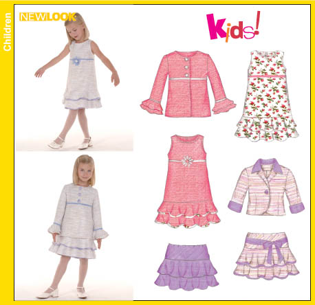 New Look Child Dress, Skirt, Coat and Jacket 6583
