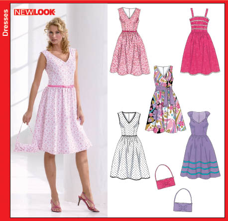 New Look New Look 6586 Misses Dresses and Purse 6586