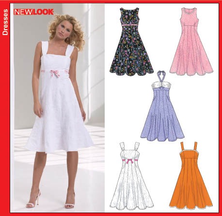 New Look New Look 6589 Misses Dresses 6589