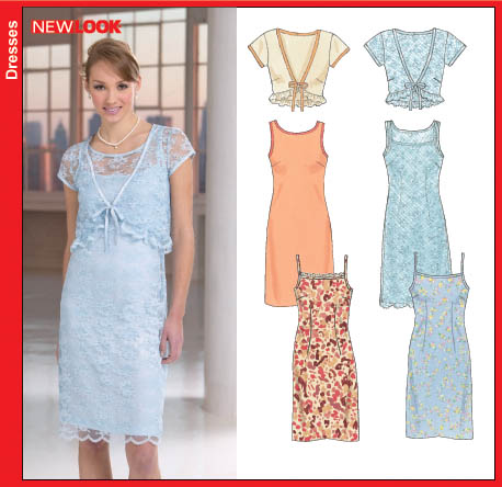 New Look New Look 6592 Misses Dress, Slip Dress and Shrug 6592