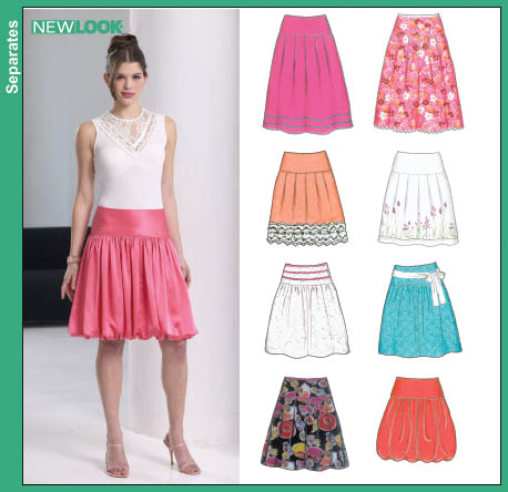 New Look New Look 6594 Misses Skirts 6594