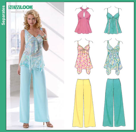New Look New Look 6606 Misses Tops and Pants 6606