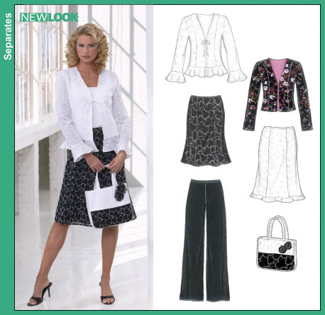 New Look New Look 6609 Misses Pants, Skirts, Lined Jackets and Bag 6609