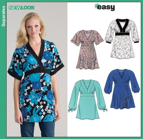 New Look Misses Knit Tunic Tops 6620