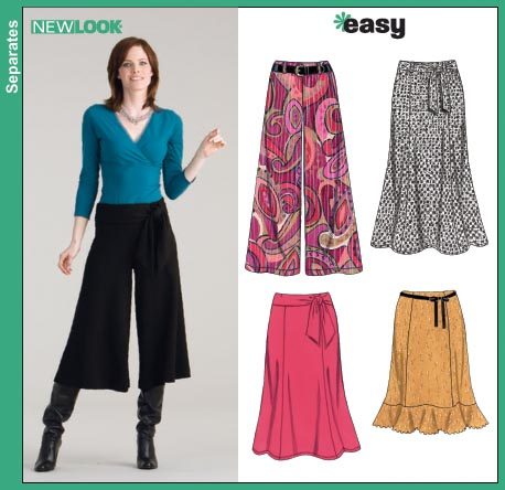 New Look Misses Knit Pants, Gauchos and Skirts 6626