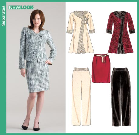 New Look Misses Suit: Coat, Jacket, Pants and Skirt 6632