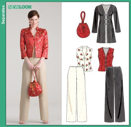 New Look Misses Pants, Lined Jackets & Vests with Purse 6633