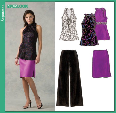 New Look Misses Tops, Skirt and Pants 6655
