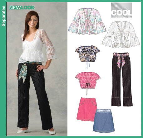 New Look Junior Tops, Skirt and Pants 6660