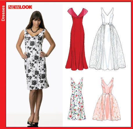 New Look Misses Dress and Detachable Overskirt 6670