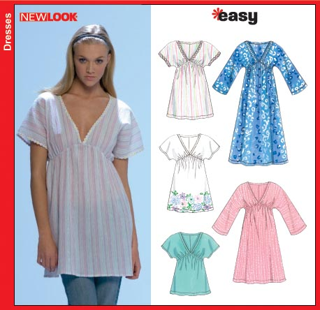 New Look Misses Pullover Dress Tunic and Top 6698