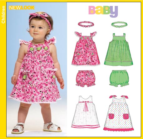 New Look Babies Dress Panties and Headband 6718