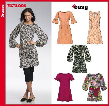 Tunic top patterns new look 6727 mini dress or tunic top