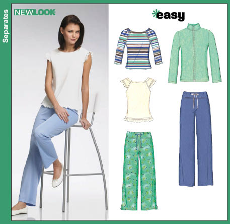 New Look Misses Knit Jacket Top and Pants 6734