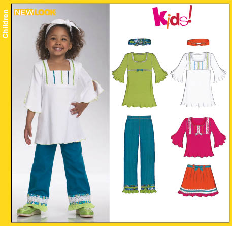 New Look Child Skirt Pants Headband and Knit Mini Dress Tunic or Top 6747
