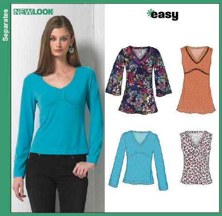 New Look Misses Knit Tops 6753
