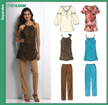 New Look  Misses Tunic Tops and Pants 6761