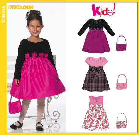 New Look  Child Lined Dress and Purse 6771