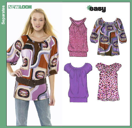 New Look Misses Knit Tops 6780