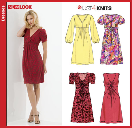 New Look Misses Knit Dresses 6802