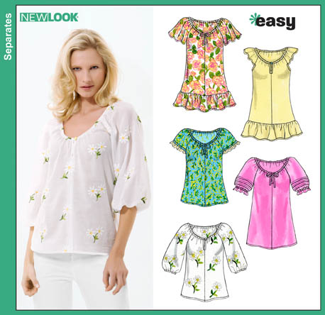 New Look Misses Easy Tops 6809