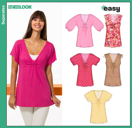 New Look Misses Easy Tops 6810