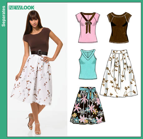 New Look Misses Skirt and Knit Tops 6813