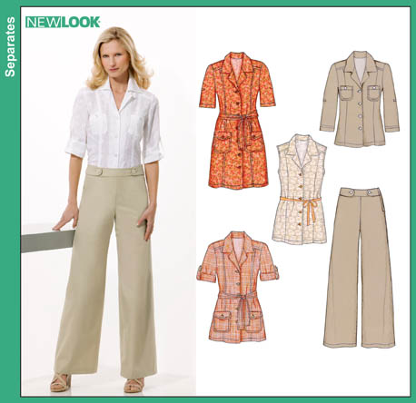 New Look Misses Shirt Dress, Shirts and Pants 6815