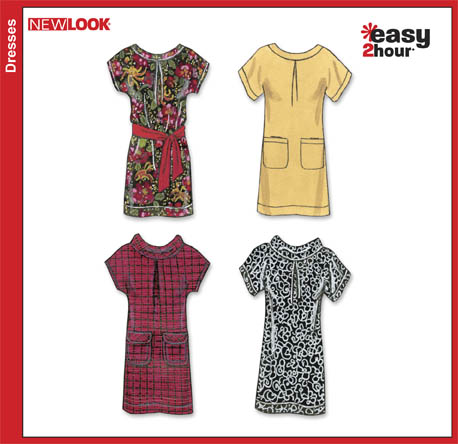 New Look  Misses Easy Dresses and Belt 6825