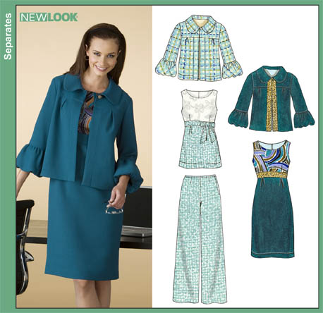New Look Misses Dress, Tunic, Pants and Jacket 6835